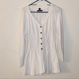 Style & Co Knitted Ivory Cardigan